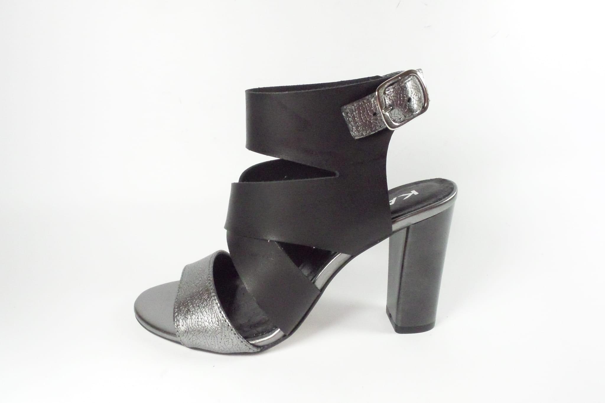 Sandały damskie Karino 2127 115 P czarny srebrny