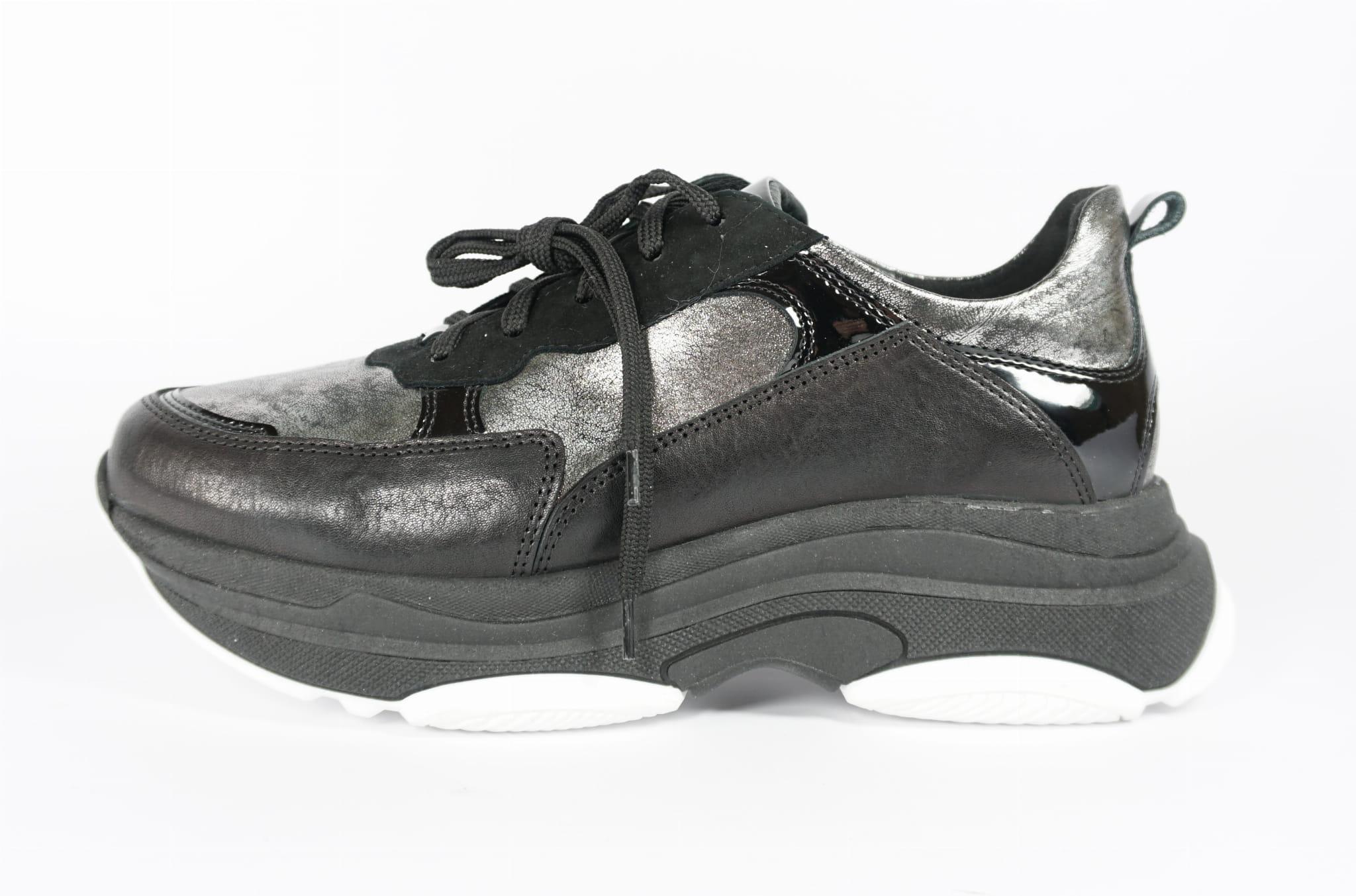 Buty Damskie Sportowe Sneakersy Nessi 19528 Czarne